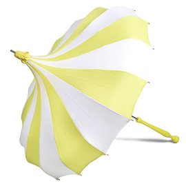 Bella Umbrella Signature Bella Custom Pinwheel White & Yellow