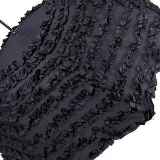 VTC Black Ruffled Rain Umbrella
