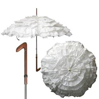 Vista Ruffled White Water Proof Parasol