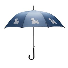 San Francisco Umbrella West Highland Terrier - DK Blue/White