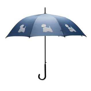 San Francisco Umbrella Animal Umbrella - West Highland Terrier - DK Blue/White
