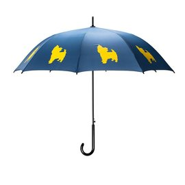 San Francisco Umbrella Yorkshire Terrier - Blue/Yellow