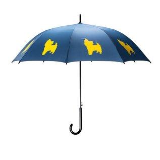 San Francisco Umbrella Animal Umbrella - Yorkshire Terrier - Blue/Yellow