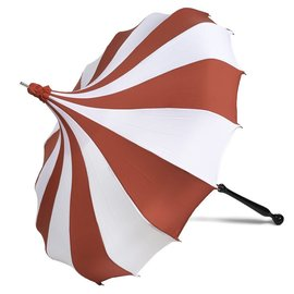 Bella Umbrella Signature Bella Custom Pinwheel White & Red