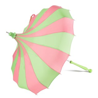 Bella Umbrella Signature Bella Custom Pinwheel Green & Pink