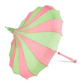 Bella Umbrella Signature Bella Custom Pinwheel Green & Pink