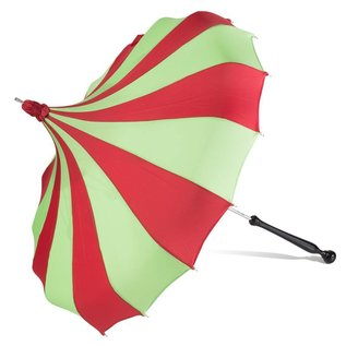 Bella Umbrella Signature Bella Custom Pinwheel Green & Red