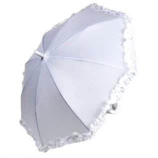 Vista Ruffled Umbrella for Kids - White