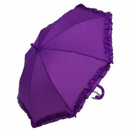Vista Ruffled Umbrella for Kids Purple