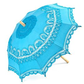 Goldenstate Lace Parasol Aqua Blue
