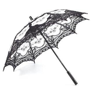 Goldenstate Lace Parasol Black & White
