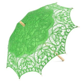 Goldenstate Lace Parasol Lime Green