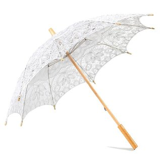 Goldenstate Lace Parasol Silver