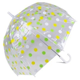 Vista Pastel Polka Dot Bubble Umbrellas Yellow/Green