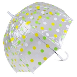 Vista Pastel Polka Dot Bubble Umbrellas Yellow//Green