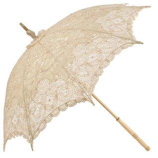 Naysmith Lace Strolling Parasol - Ivory
