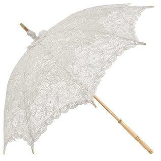 Naysmith Lace Strolling Parasol - White