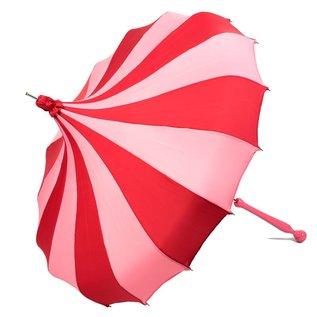 Bella Umbrella Signature Bella Custom Pinwheel Pink & Red