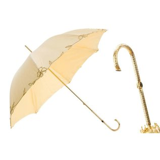 Pasotti Italian Embroidered Umbrella with Jeweled Handle