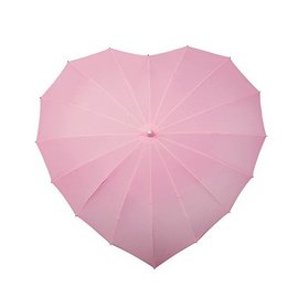 Naysmith Heart Shaped Pink Umbrella