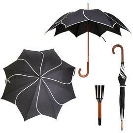 Vista Twirl Black Umbrella