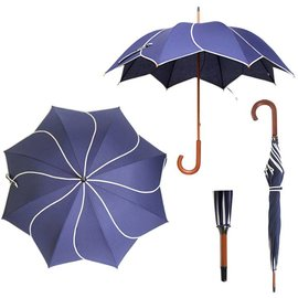 Vista Twirl Navy Umbrella