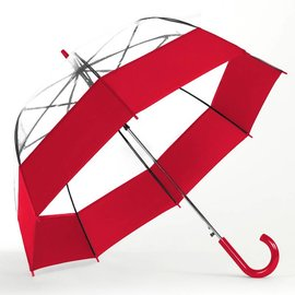 Bubble Umbrella Auto Open Red