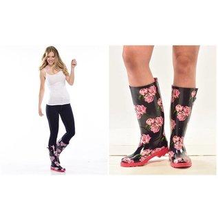 Gift Craft Rain Boots Flowers 10