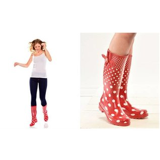 Gift Craft Rain Boots Polka Dots 7