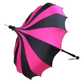 Bella Umbrella Signature Bella Custom Pinwheel - Black & Magenta
