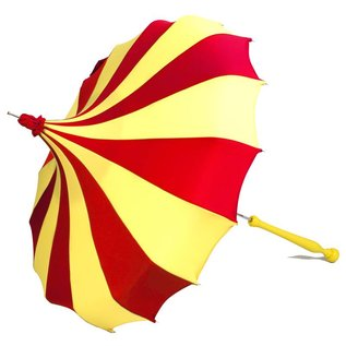 Bella Umbrella Signature Bella Custom Pinwheel Red & Yellow