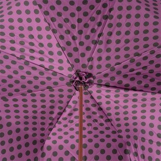 Pasotti Italian Double Layered Purple Polka Dot