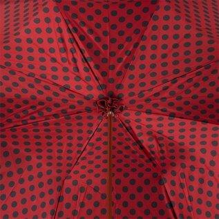 Pasotti Italian Double Layered Red Polka Dot