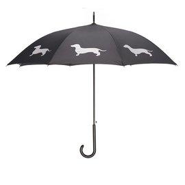 San Francisco Umbrella Dachshund Umbrella - Red/Blk