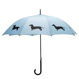 San Francisco Umbrella Dachshund - Lt Blue/Dk Blue