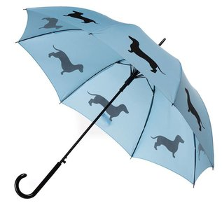 San Francisco Umbrella Dachshund - Lt Blue/Dk Blue