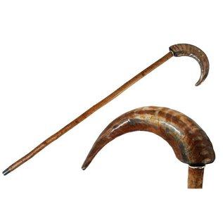 Pasotti Italian  Ram Horn Cane/Walking Stick