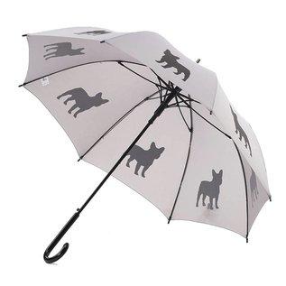 San Francisco Umbrella French Bulldog - Black/Silver