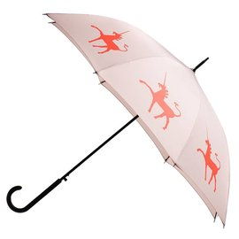 San Francisco Umbrella Unicorn - Flame Red/Orange, Taupe w/sleeve