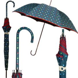 Vista Polka Dot Parade Umbrella Teal