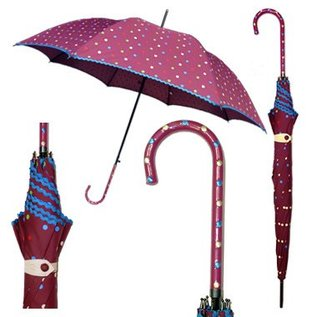 Vista Plum Polka Dot Umbrella