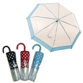 Vista Compact Bubble Umbrella Blue Polka Dot