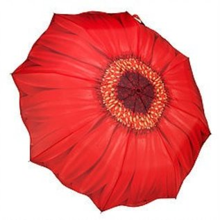 Galleria Red Daisy Travel Umbrella