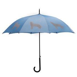 San Francisco Umbrella Siberian Husky Umbrella Blue/Silver