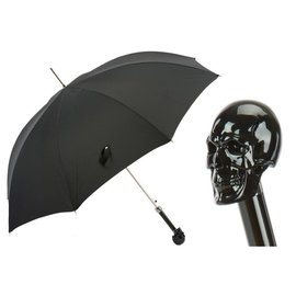 Pasotti Pasotti Black Skull Umbrella