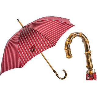 Pasotti Classic Striped Umbrella, Bamboo Handle