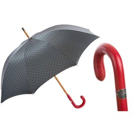 Pasotti Pasotti Gentlemen's Umbrella - Red Leather Handle