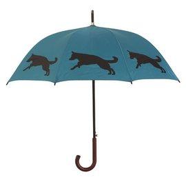San Francisco Umbrella German Shepherd - Teal/Black
