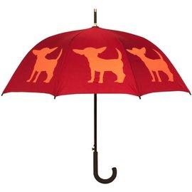San Francisco Umbrella Chihuahua Umbrella Burgundy/Orange