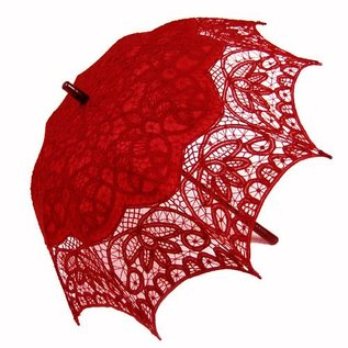 Goldenstate Lace Parasol Red